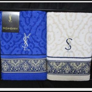 New YSL authentic bath towels set of two in  box